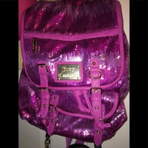 Juicy Couture Pink sequin bling Backpack NEW